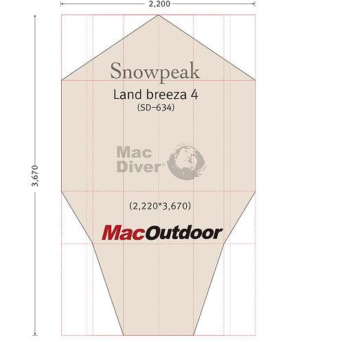 snowpeak ランドブリーズ 4 SD-634 一体型 グランドシート Fire Proof