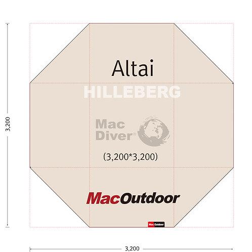 Hillberg アルタイ 一体型 グランドシート Fire Proof 難燃性