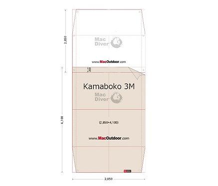 DOD カマボコ 3M 前室用 グランドシート Fire Proof 難燃性