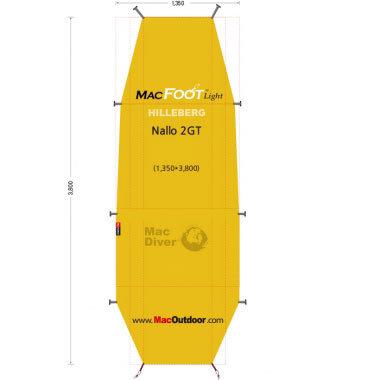 Hillberg ナロ2GT 一体型 グランドシート Mac Foot Light
