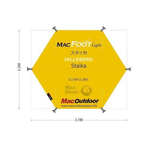 11月入荷 Hillberg スタイカ専用  一体型 グランドシート Mac Foot Light