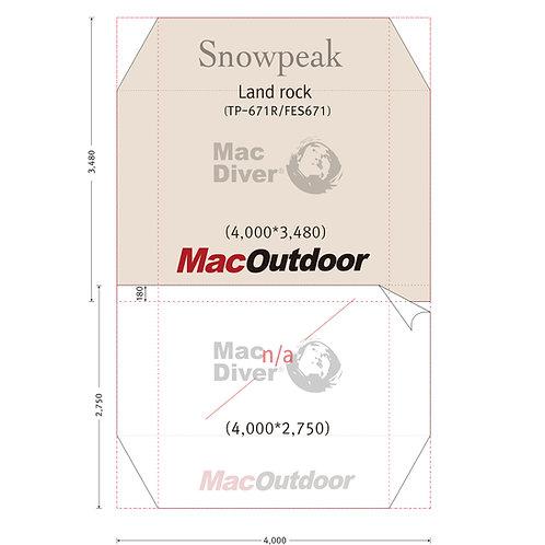 3月まで入荷 snowpeak ランドロック TP-671 Fire Proof 前室含み