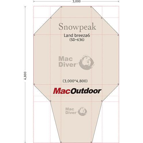 11月入荷 snowpeak ランドブリーズ 6 SD-634 一体型 グランドシート Fire Proof