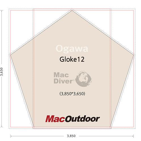 OGAWA グロッケ12T/C 一体型 グランドシート Mac Foot