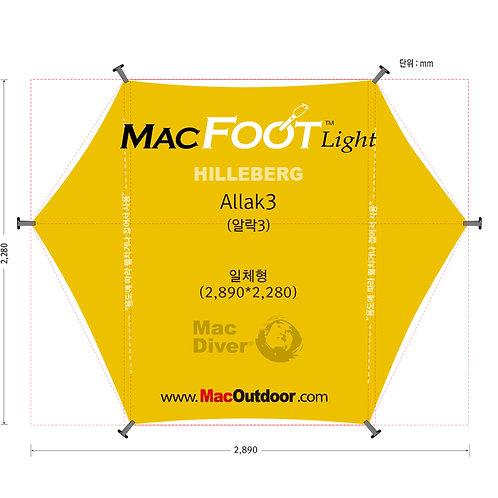 【4月末までに入荷予定】Hillberg アラック3  一体型 グランドシート Mac Foot Light