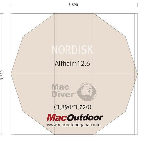 Nordisk アルヘイム12.6用 一体型用 グランドシート Fire Proof 難燃性