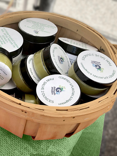 Comfrey Plantain Homeopathic Salve with Magnesium