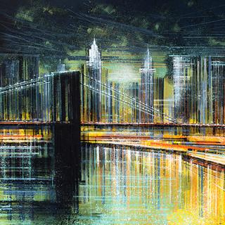 Brooklyn Bridge At Midnight
