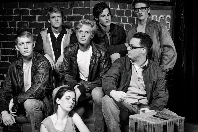 Theater New York Gang 50s Black and white