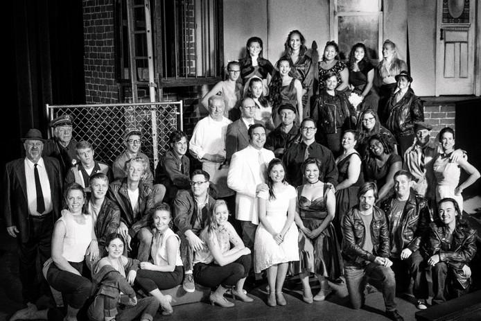 Theater Cast Photo Black and white Magic Circle Theatre
