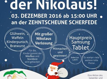 Gewerbeverein Scherfede veranstaltet Nikolaus-Markt