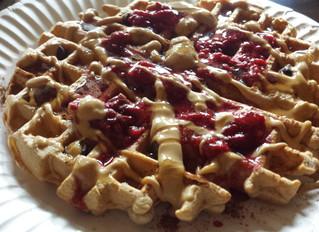 Easy PB&J Protein Waffles