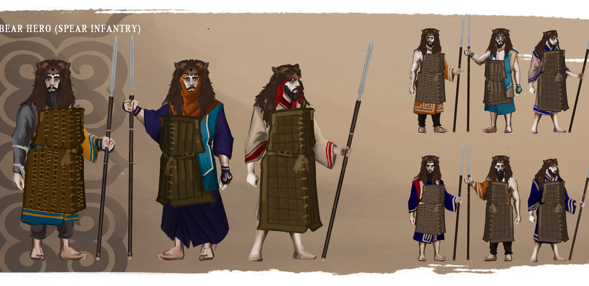AINU Bear Hero (spears)