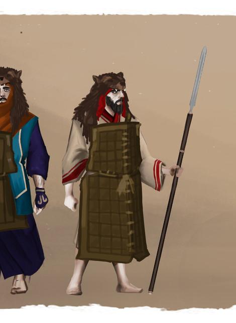 AINU Bear Hero (spears)
