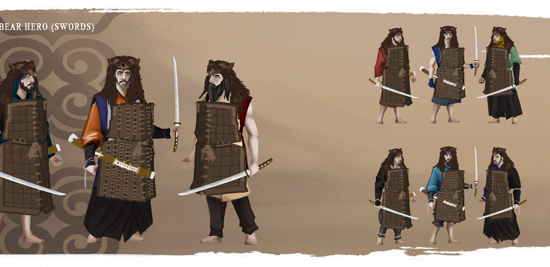 AINU Bear Hero (swords)