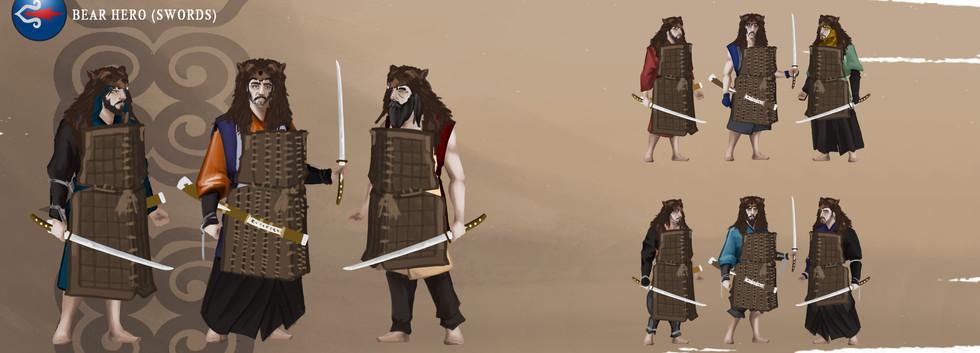AINU Bear Hero (swords)