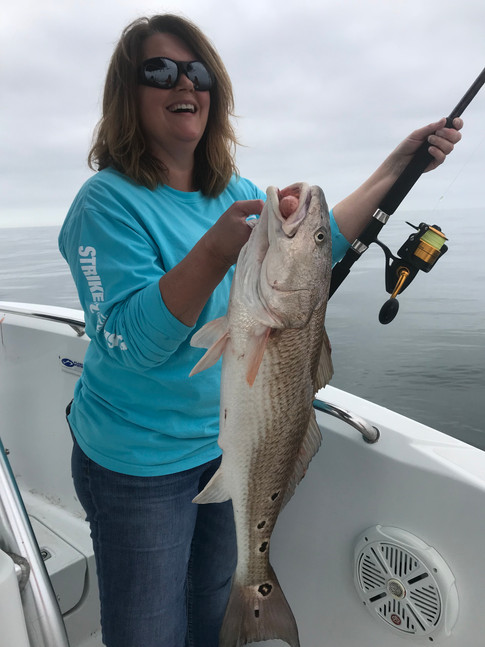 Redfish caught way offshore