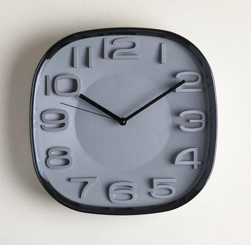 Reloj Cuadrado Gris
