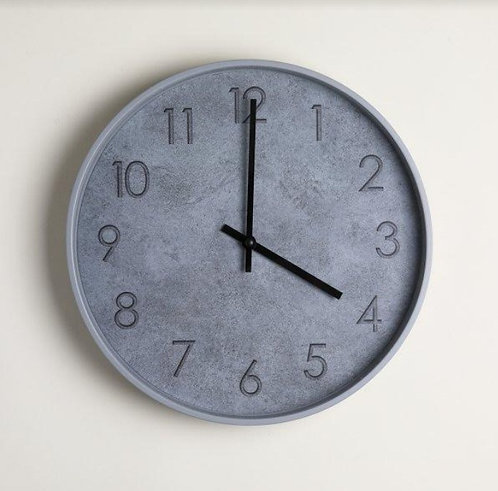 Reloj Redondo Gris