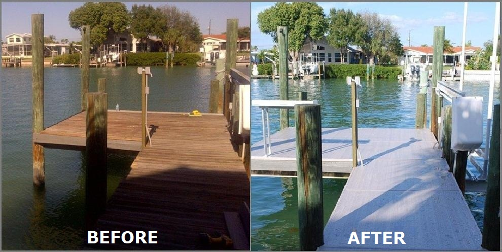 before after dock