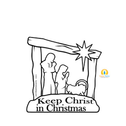 Keep Christ In Christmas (Car Magnet)