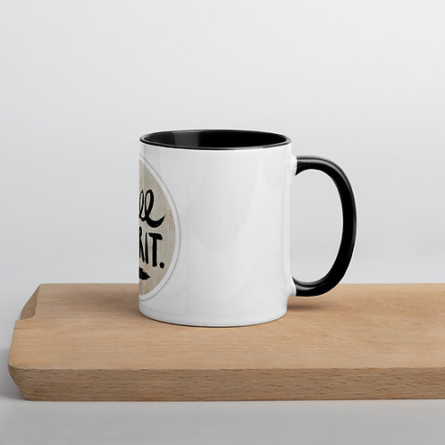 Free people happy boho coffee Mug with Color Inside, camper coffee cup, wander