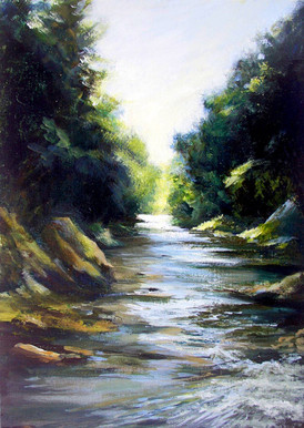 River Findhorn, Oil on Canvas, 400mmx290mm