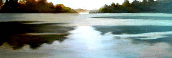 Morning Mist, Oil on Canvas, 900mmx350mm
