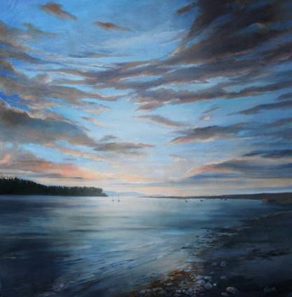 Findhorn Bay, Oil on Canvas, 1000mmx800mm