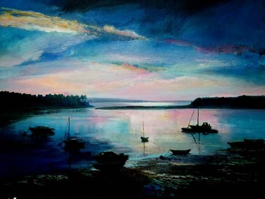 Evening Light, Acrylic on Canvas, 400mmx290mm