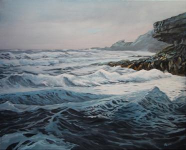Cuan Mor, 610 x 760mm acrylic on canvas
