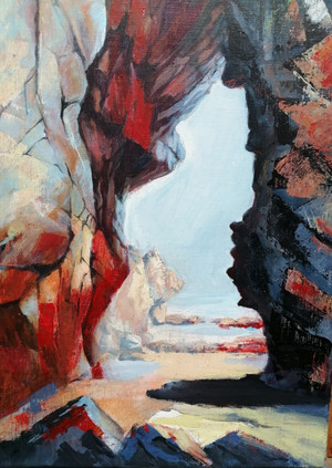 Clashach Cove Arch, Oil on Canvas, 400mmx290mm