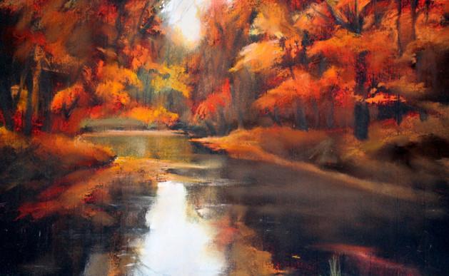 Autumn Reflections, Pastel Study