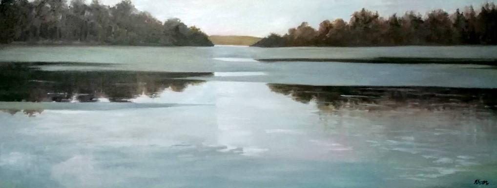 Loch Insch, Oil on Canvas, 900mmx350mm