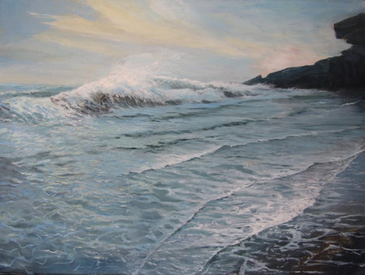 Ninth Wave 600 x 455 mm oil on canvas