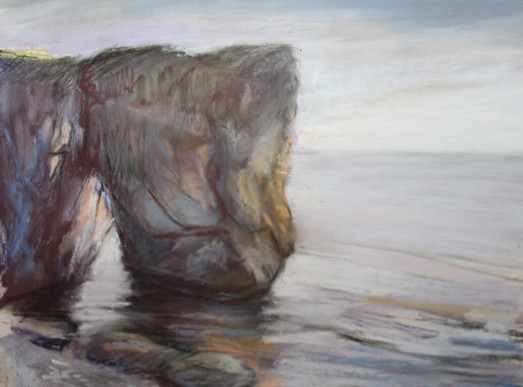 Sea Arch Pastel Study