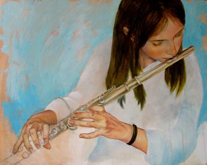 The Flute, Oil on Linen, 400mmx600mm