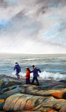 Explorers, Oil on Canvas, 590mm x 350mm