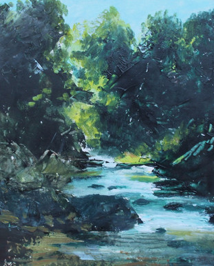 Findhorn River, Acrylic on Canvas, 400mmx290mm