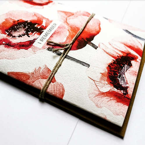 I REMEMBER   Greeting Card with Envelope