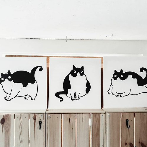Fat Cat TRYPTYCH | Little Black Art