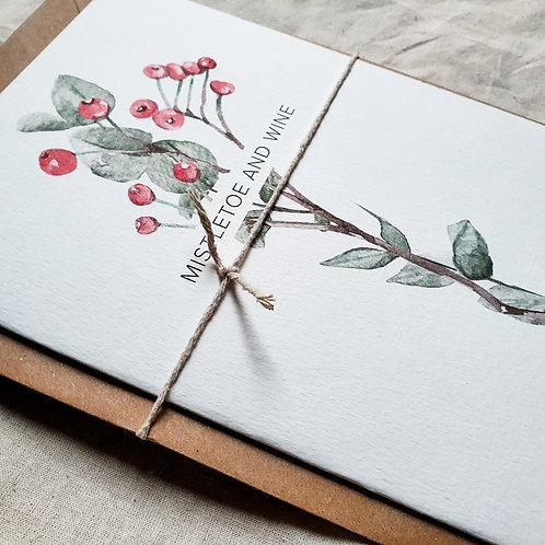 MISTLETOE&WINE | Greeting Card with Envelope