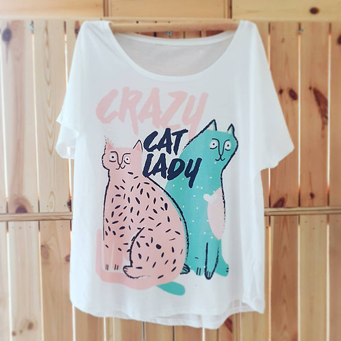 Crazy Cat Lady   Art Tee   Colour