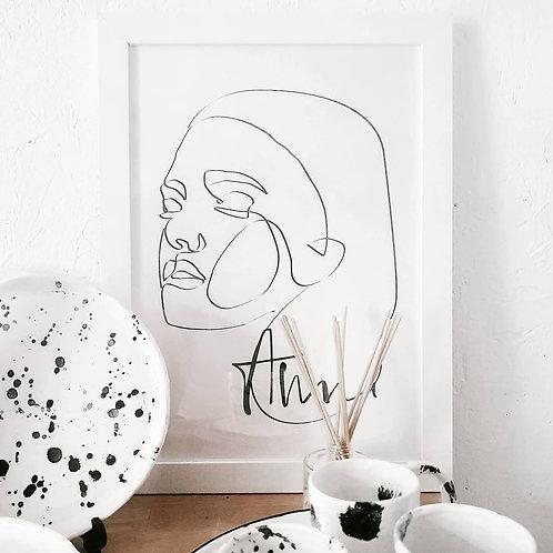 Custom Line Art Portrait
