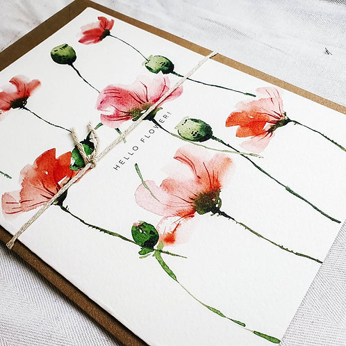 Hello Flower! | Greeting Card with Envelope