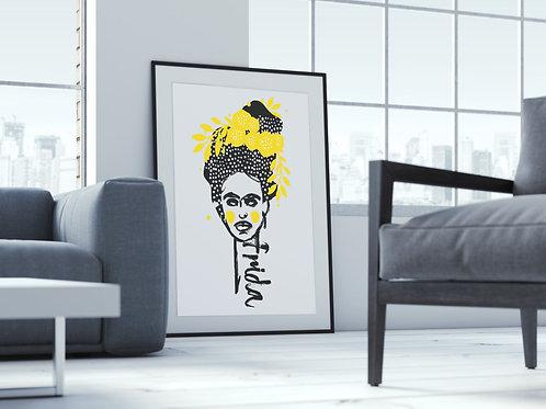 Frida Kahlo A1 Poster Original Illustration