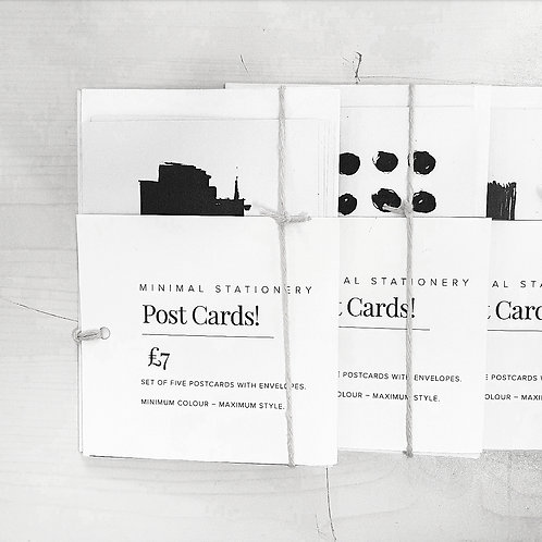 Postcards. Set of 5 (with envelopes)
