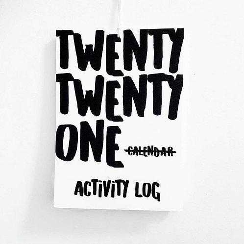 Activity log   2021 Minimal Calendar