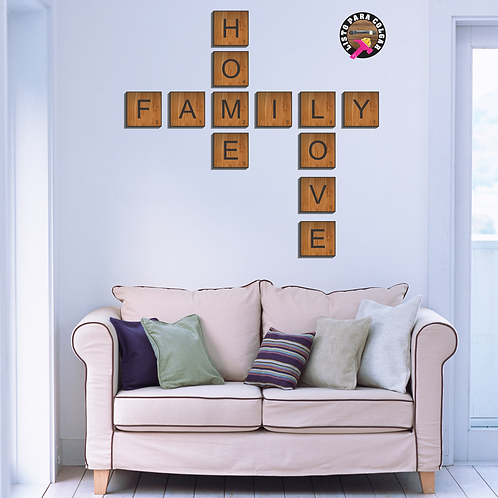 C034 - Scrabble Home,Family, Love