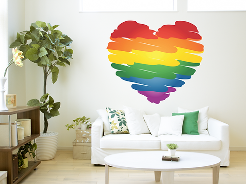 "Vinilo Decorativo ""064-Colors Heart"""